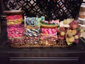 Spools of Fabric Twine