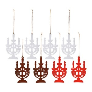 4 flat candelabra ornaments (white)